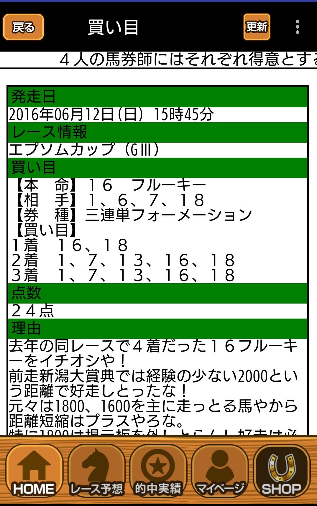 東京11R 万馬券一