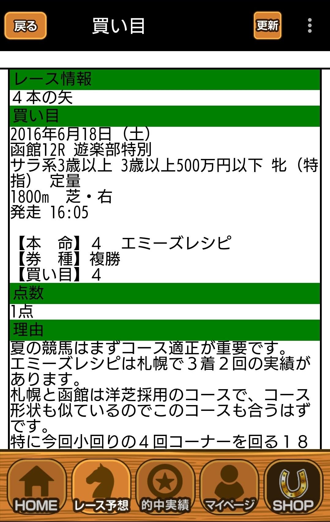 函館12R アタルくん